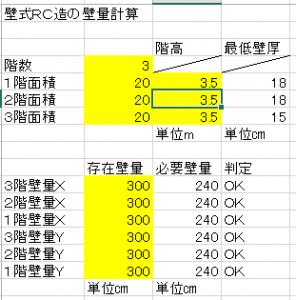 壁式RC造壁量計算ソフト